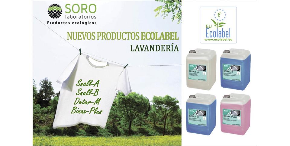 Productos de lavandería ecolabel